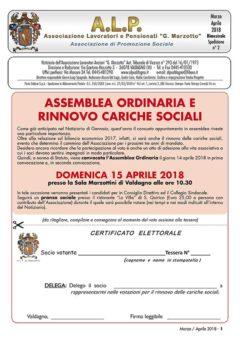 ALP Notiziario Marzo-Aprile 2018