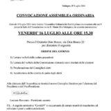 CONVOCAZIONE  ASSEMBLEA ORDINARIA Venerdì 16 luglio 2021